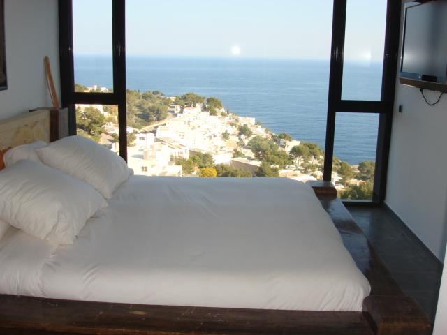 dormitorio suite vista mar